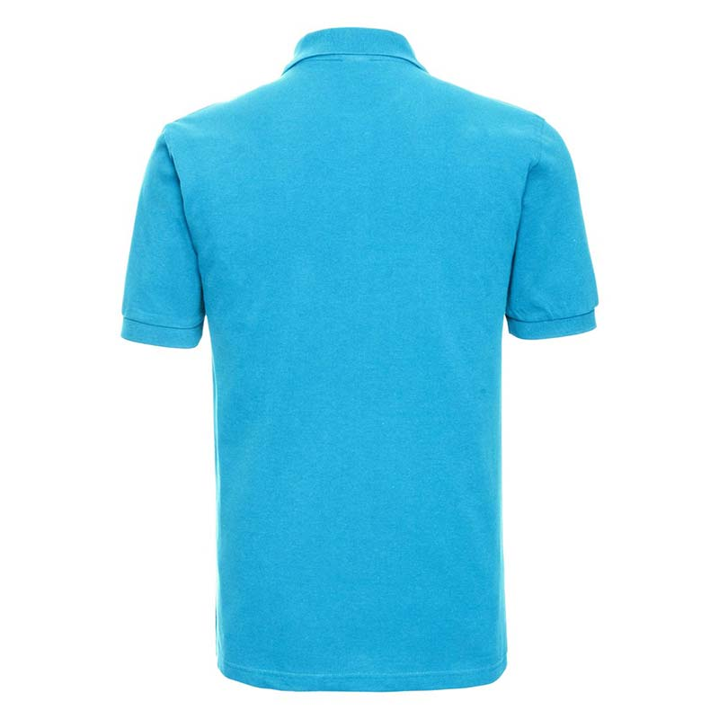 200g 100% Cotton Mens Classic Polo - JPA569-turquois-back