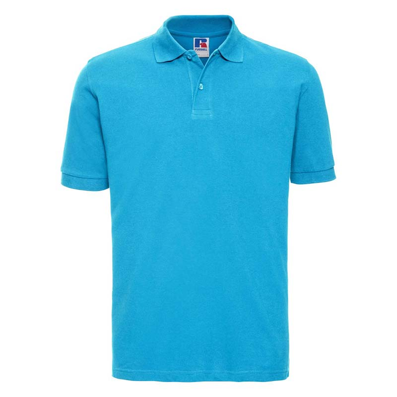200g 100% Cotton Mens Classic Polo - JPA569-turquois