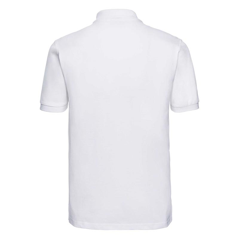 200g 100% Cotton Mens Classic Polo - JPA569-white-back
