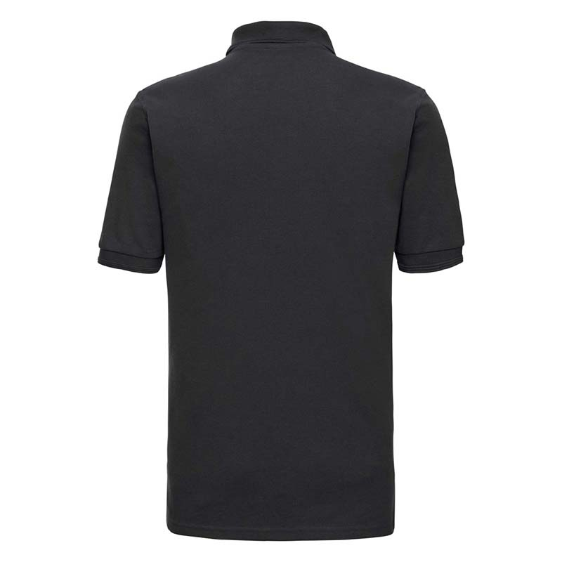 215gsm 65/35PC Hardwearing Polycotton Polo - JPA599-black-back