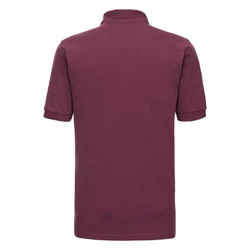 215gsm 65/35PC Hardwearing Polycotton Polo - JPA599-burgundy-back