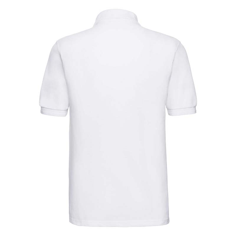 215gsm 65/35PC Hardwearing Polycotton Polo - JPA599-white-back