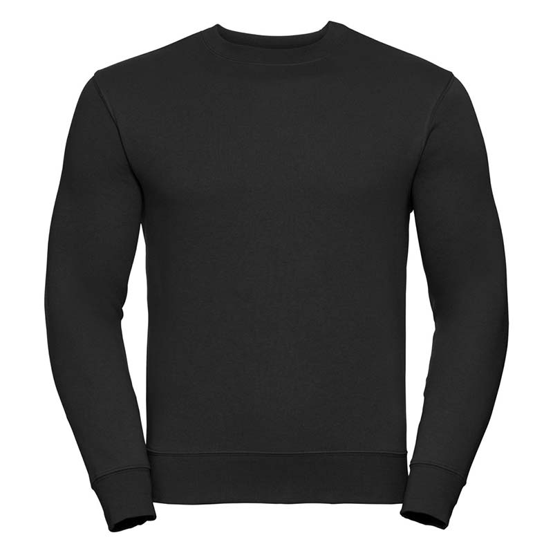 280gsm 80/20 CP Mens Set-In Comfort Authentic Crew Sweat Long Sleeve - JSA262-black