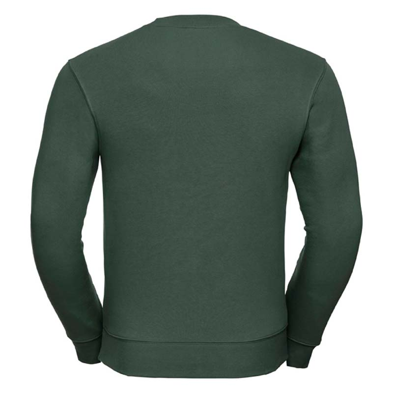 280gsm 80/20 CP Mens Set-In Comfort Authentic Crew Sweat Long Sleeve - JSA262-bottle-back