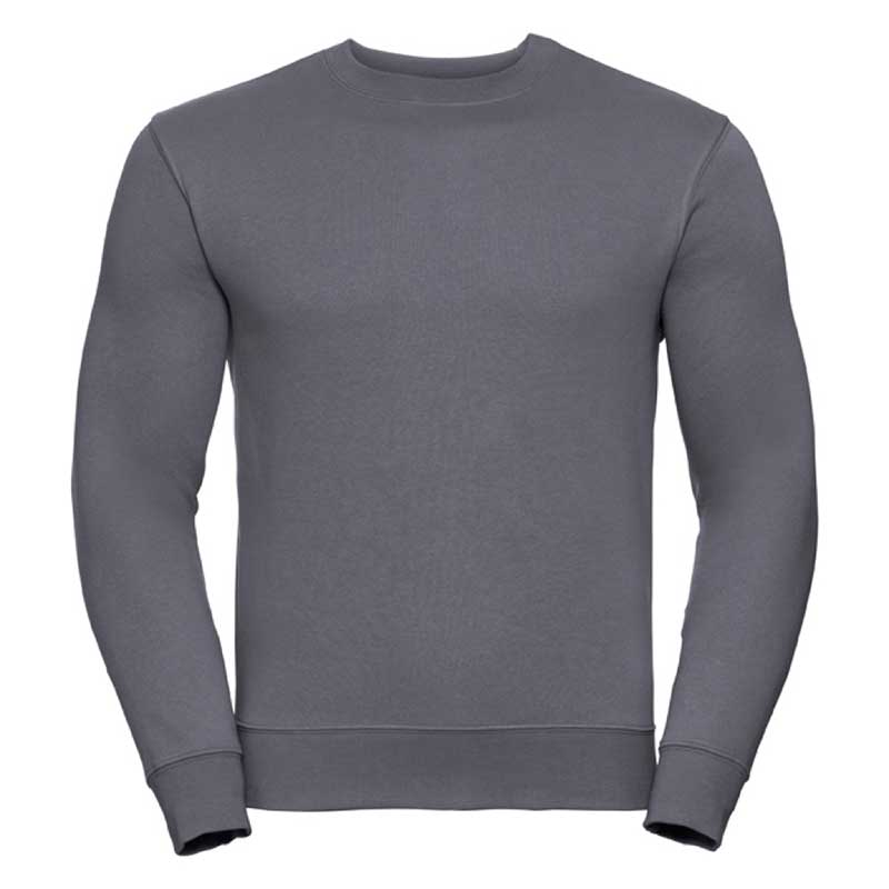 280gsm 80/20 CP Mens Set-In Comfort Authentic Crew Sweat Long Sleeve - JSA262-convoy
