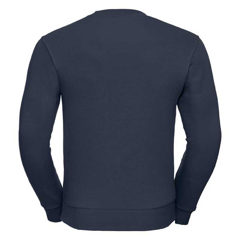280gsm 80/20 CP Mens Set-In Comfort Authentic Crew Sweat Long Sleeve - JSA262-french-navy-back