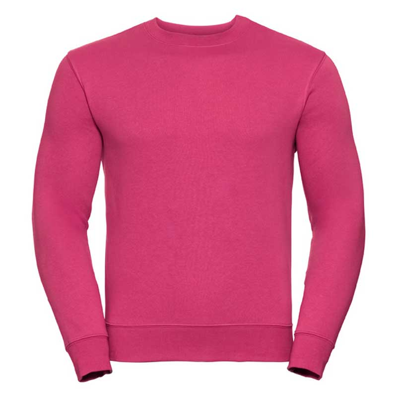 280gsm 80/20 CP Mens Set-In Comfort Authentic Crew Sweat Long Sleeve - JSA262-fuchsia