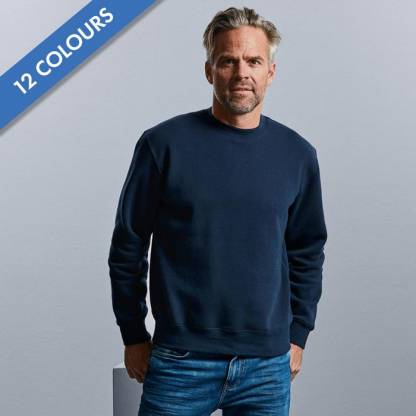 280gsm 80/20 CP Mens Set-In Comfort Authentic Crew Sweat Long Sleeve - JSA262