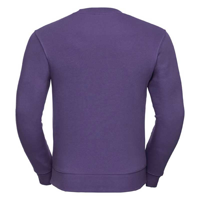 280gsm 80/20 CP Mens Set-In Comfort Authentic Crew Sweat Long Sleeve - JSA262-purple-back