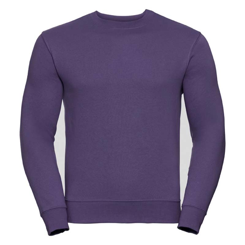 280gsm 80/20 CP Mens Set-In Comfort Authentic Crew Sweat Long Sleeve - JSA262-purple