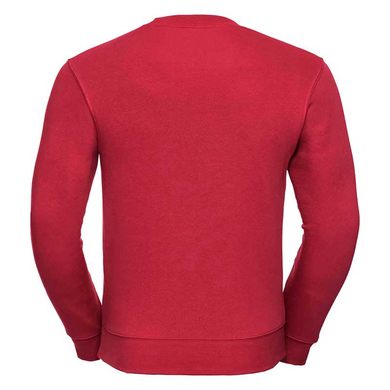 280gsm 80/20 CP Mens Set-In Comfort Authentic Crew Sweat Long Sleeve - JSA262-red-back