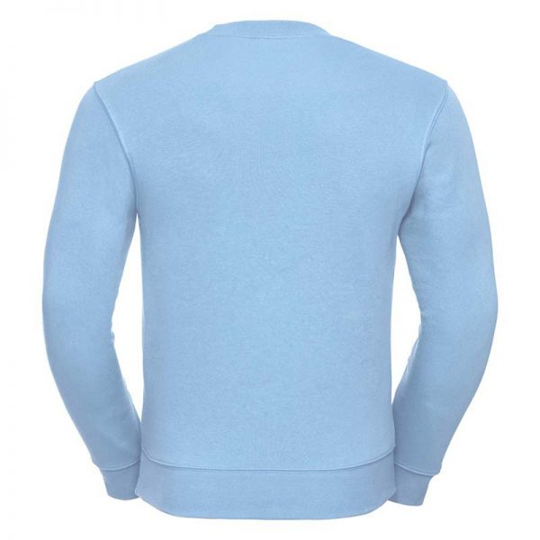 280gsm 80/20 CP Mens Set-In Comfort Authentic Crew Sweat Long Sleeve - JSA262-sky-back
