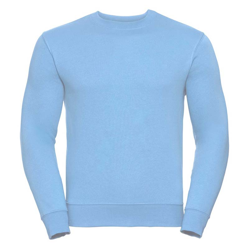 280gsm 80/20 CP Mens Set-In Comfort Authentic Crew Sweat Long Sleeve - JSA262-sky