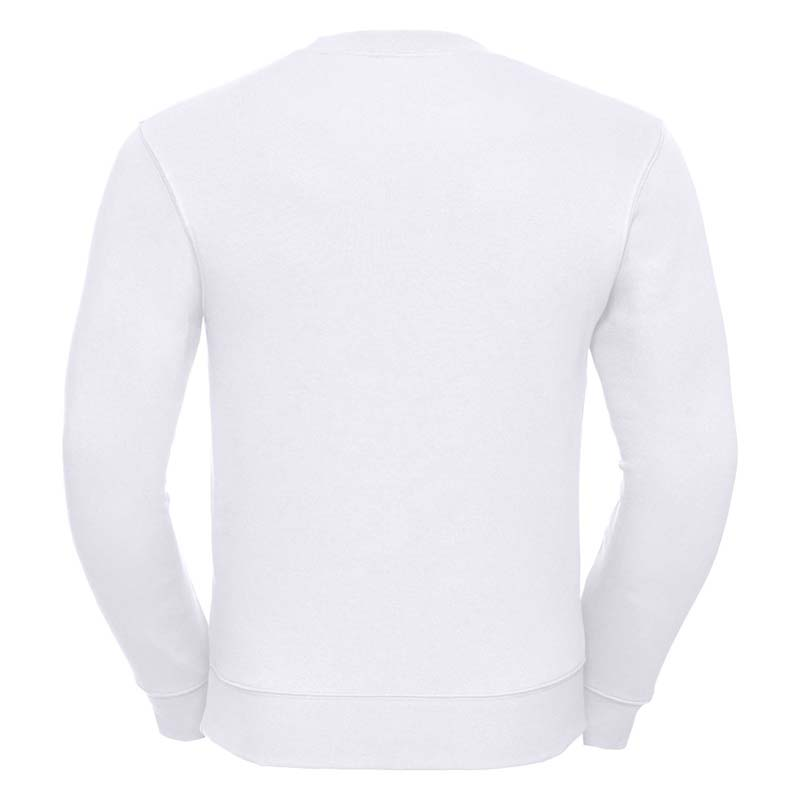 280gsm 80/20 CP Mens Set-In Comfort Authentic Crew Sweat Long Sleeve - JSA262-white-back