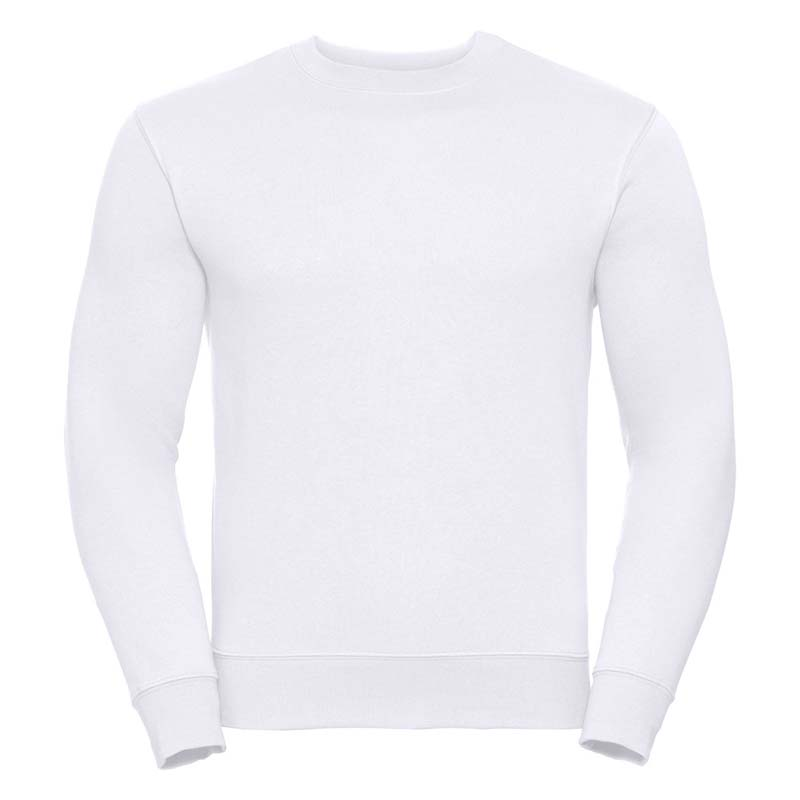 280gsm 80/20 CP Mens Set-In Comfort Authentic Crew Sweat Long Sleeve - JSA262-white
