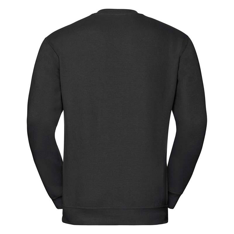 295g 50/50PC Mens V-neck Set-in Sweatshirt - JSA272-black-back