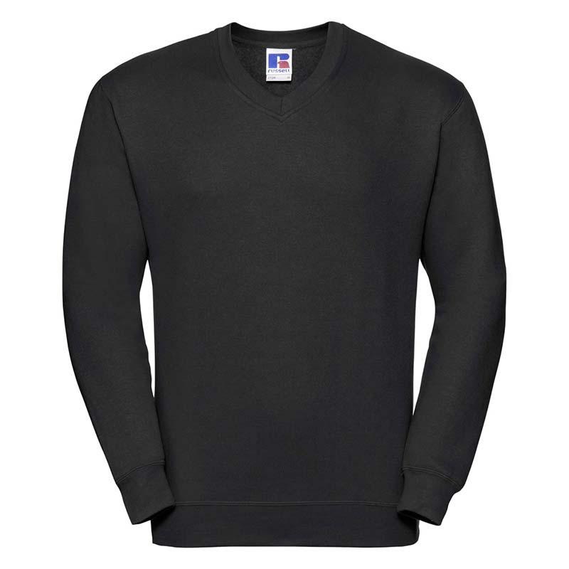 295g 50/50PC Mens V-neck Set-in Sweatshirt - JSA272-black