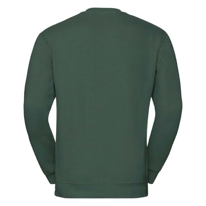 295g 50/50PC Mens V-neck Set-in Sweatshirt - JSA272-bottle-green-back