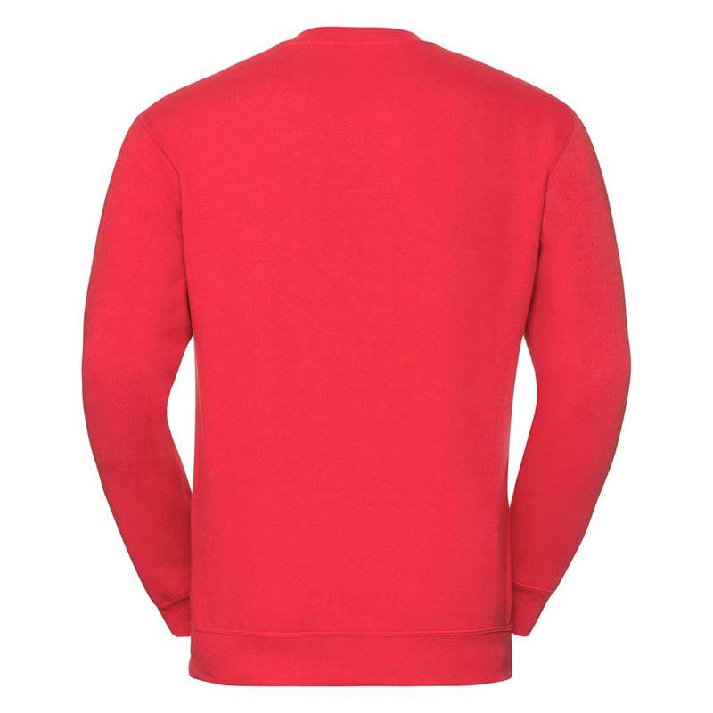 295g 50/50PC Mens V-neck Set-in Sweatshirt - JSA272-bright-red-back