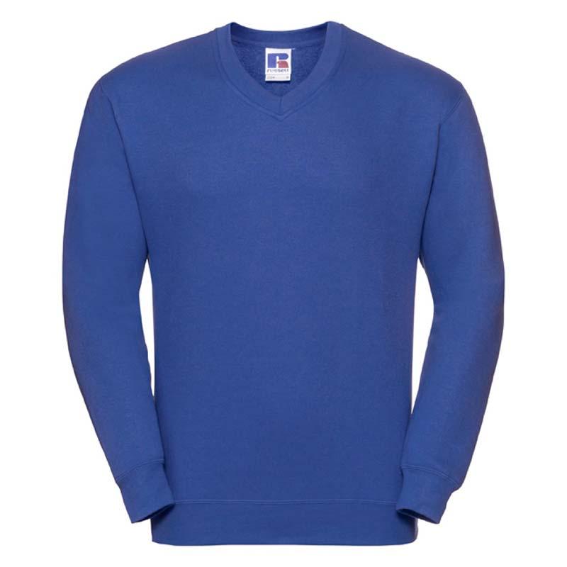 295g 50/50PC Mens V-neck Set-in Sweatshirt - JSA272-bright-royal