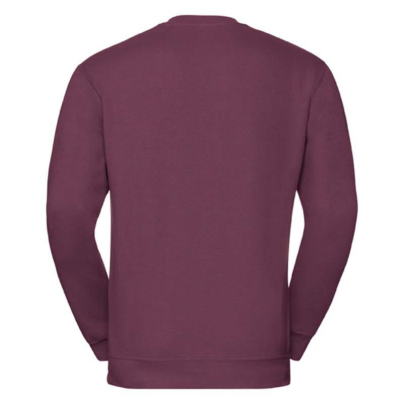 295g 50/50PC Mens V-neck Set-in Sweatshirt - JSA272-burgundy-back