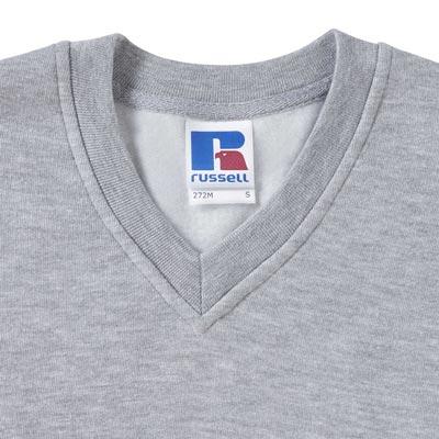 295g 50/50PC Mens V-neck Set-in Sweatshirt - JSA272-details1