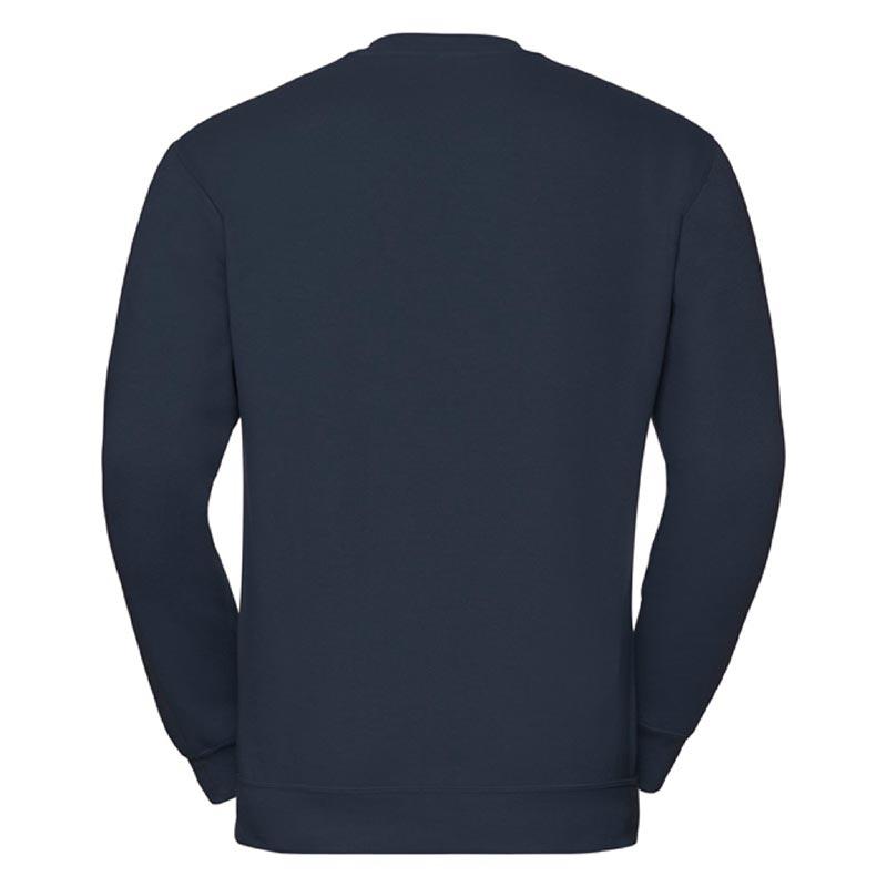 295g 50/50PC Mens V-neck Set-in Sweatshirt - JSA272-french-navy-back