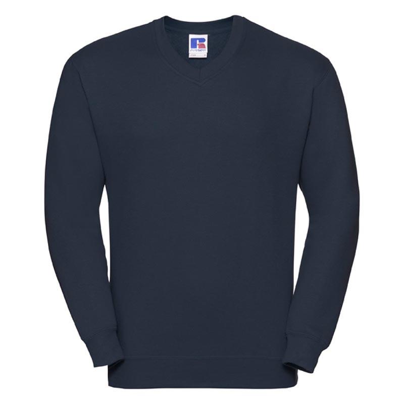 295g 50/50PC Mens V-neck Set-in Sweatshirt - JSA272-french-navy