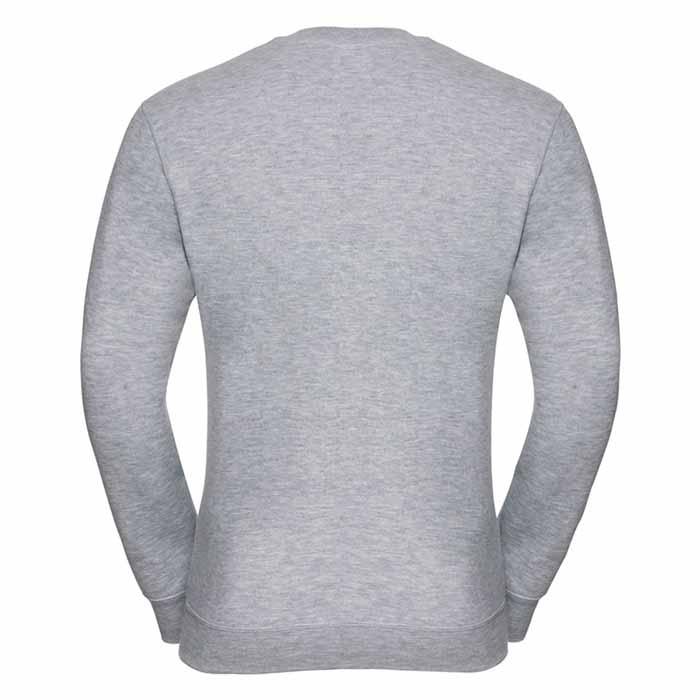 295g 50/50PC Mens V-neck Set-in Sweatshirt - JSA272-light-oxford-back