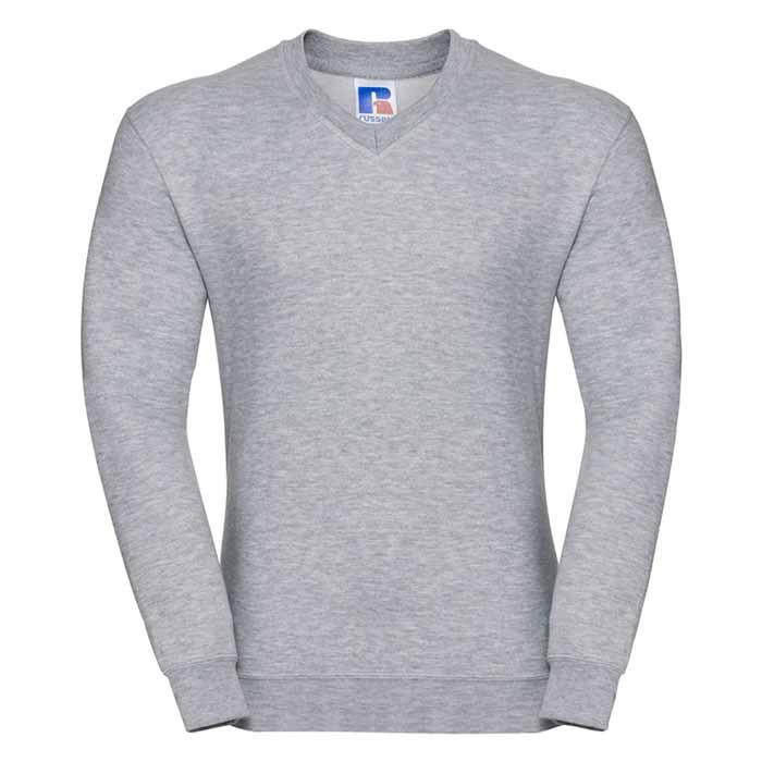 295g 50/50PC Mens V-neck Set-in Sweatshirt - JSA272-light-oxford