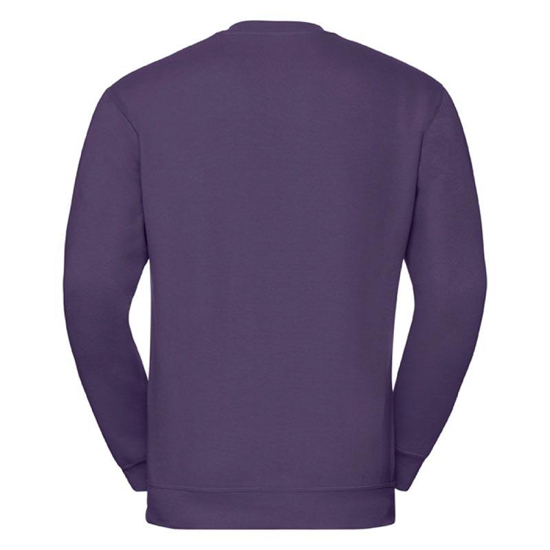 295g 50/50PC Mens V-neck Set-in Sweatshirt - JSA272-purple-back
