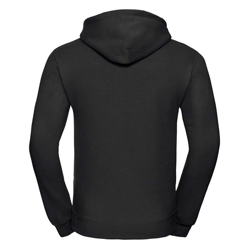 295gsm 50/50PC Adults Set-In Hooded Sweatshirt - JSA575-black-back