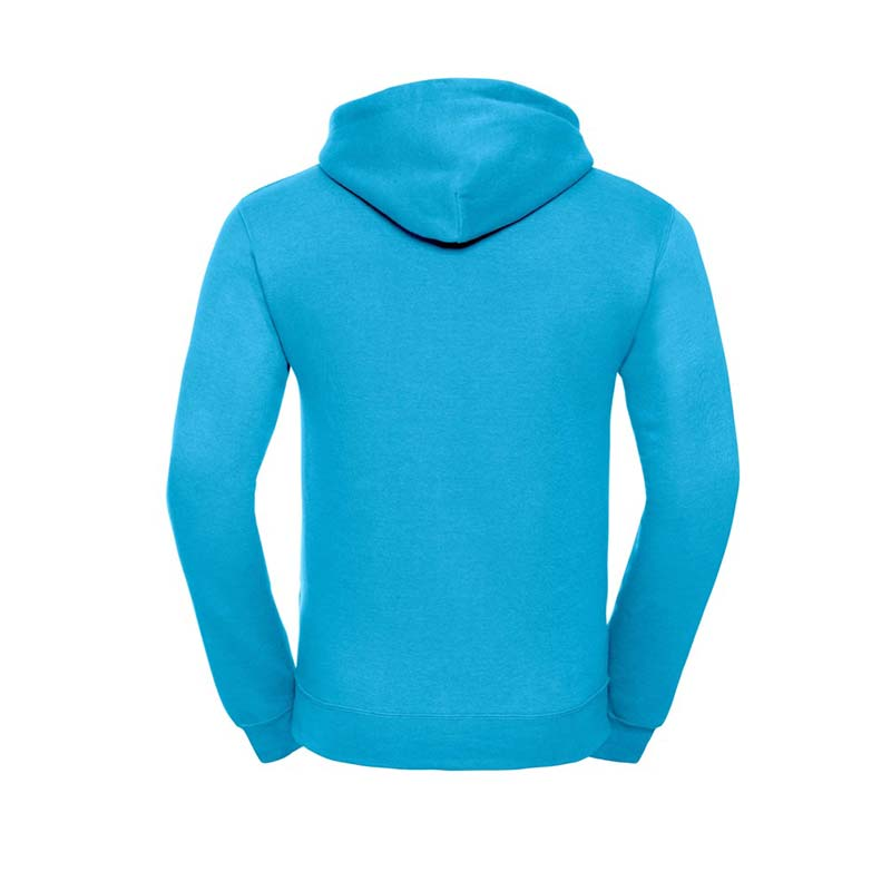 295gsm 50/50PC Adults Set-In Hooded Sweatshirt - JSA575-turquois-back