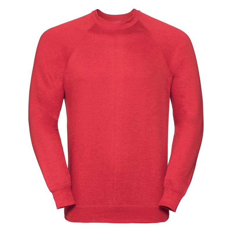 295gsm 50/50 CP Mens Classic Raglan Crew Sweat Long Sleeve - JSA762-bright-red