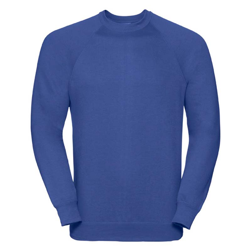 295gsm 50/50 CP Mens Classic Raglan Crew Sweat Long Sleeve - JSA762-bright-royal