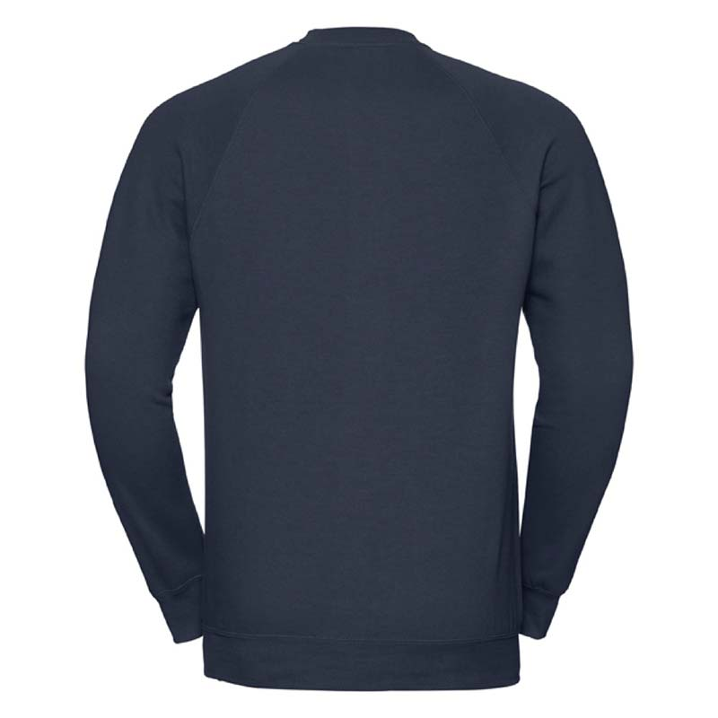 295gsm 50/50 CP Mens Classic Raglan Crew Sweat Long Sleeve - JSA762-french-navy-back