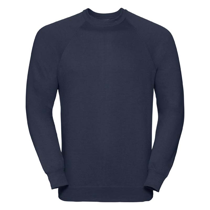 295gsm 50/50 CP Mens Classic Raglan Crew Sweat Long Sleeve - JSA762-french-navy