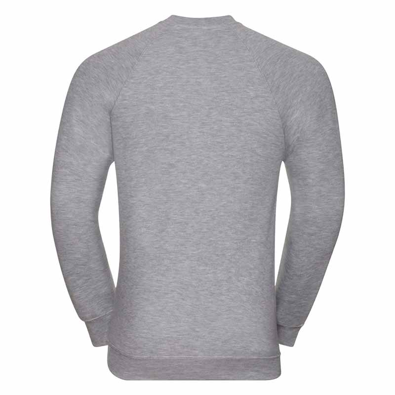 295gsm 50/50 CP Mens Classic Raglan Crew Sweat Long Sleeve - JSA762-light-oxford-back