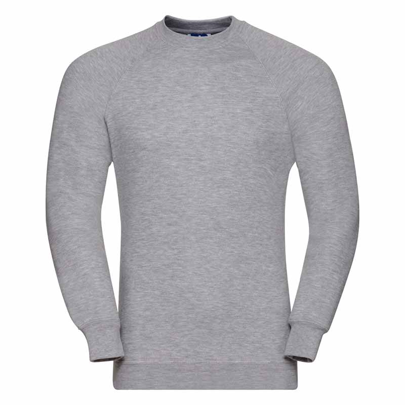 295gsm 50/50 CP Mens Classic Raglan Crew Sweat Long Sleeve - JSA762-light-oxford
