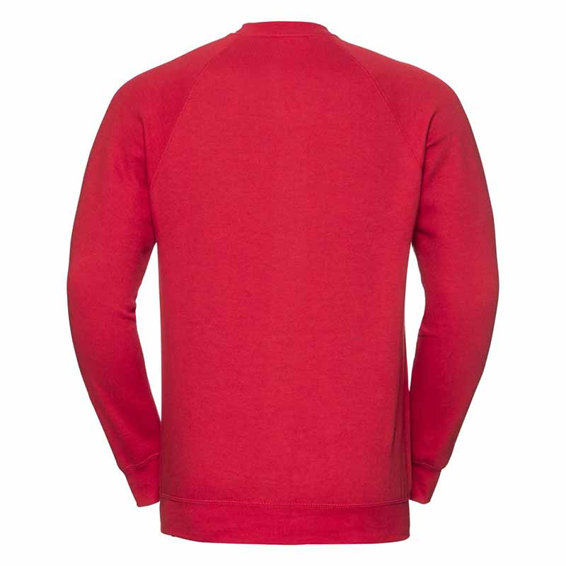 295gsm 50/50 CP Mens Classic Raglan Crew Sweat Long Sleeve - JSA762-red-back