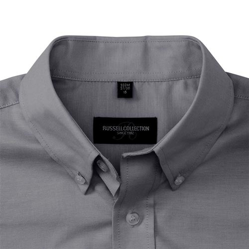 135g 70/30CP Mens Easy-Care Oxford Shirt Short Sleeve - JSHA933-details1