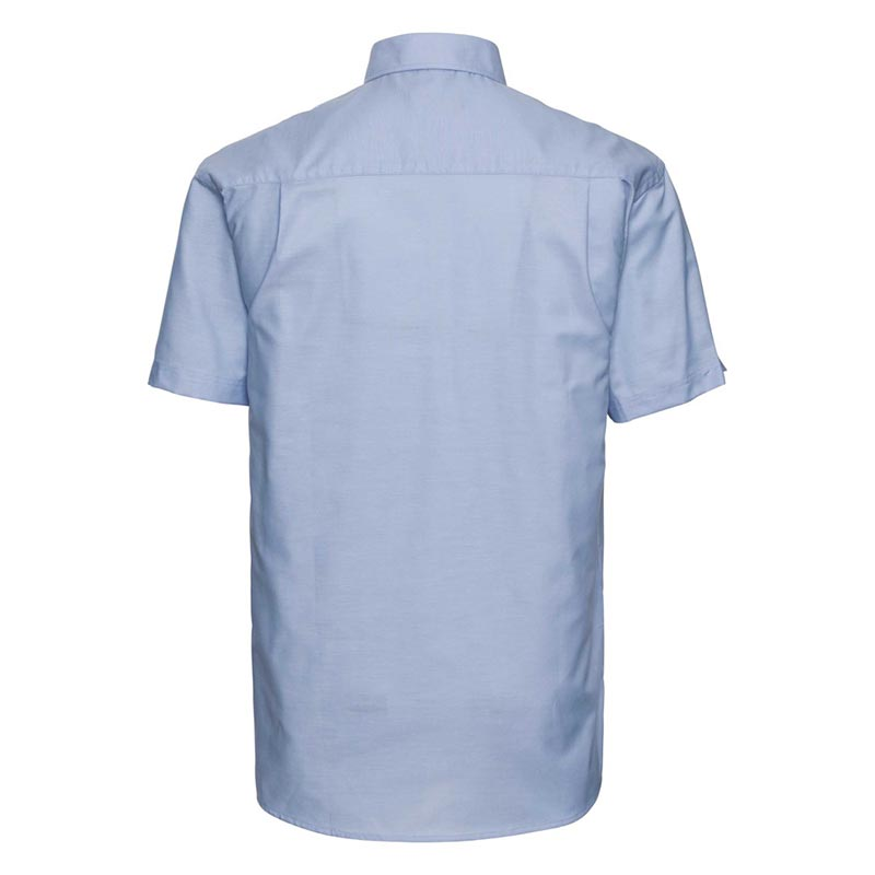 135g 70/30CP Mens Easy-Care Oxford Shirt Short Sleeve - JSHA933-oxford-blue-back