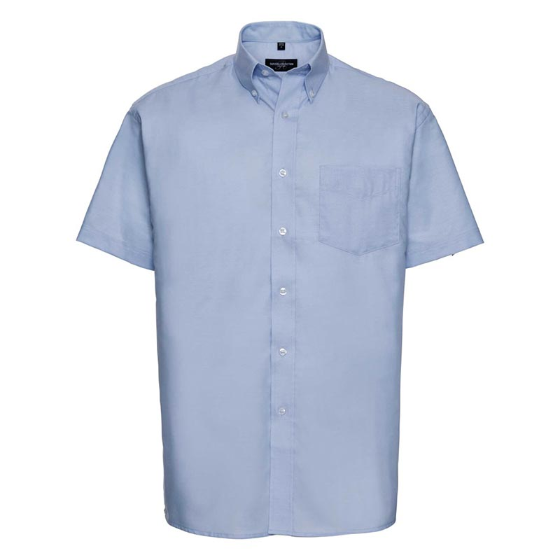 135g 70/30CP Mens Easy-Care Oxford Shirt Short Sleeve - JSHA933-oxford-blue