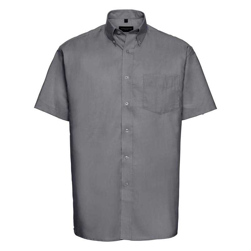 135g 70/30CP Mens Easy-Care Oxford Shirt Short Sleeve - JSHA933-silver