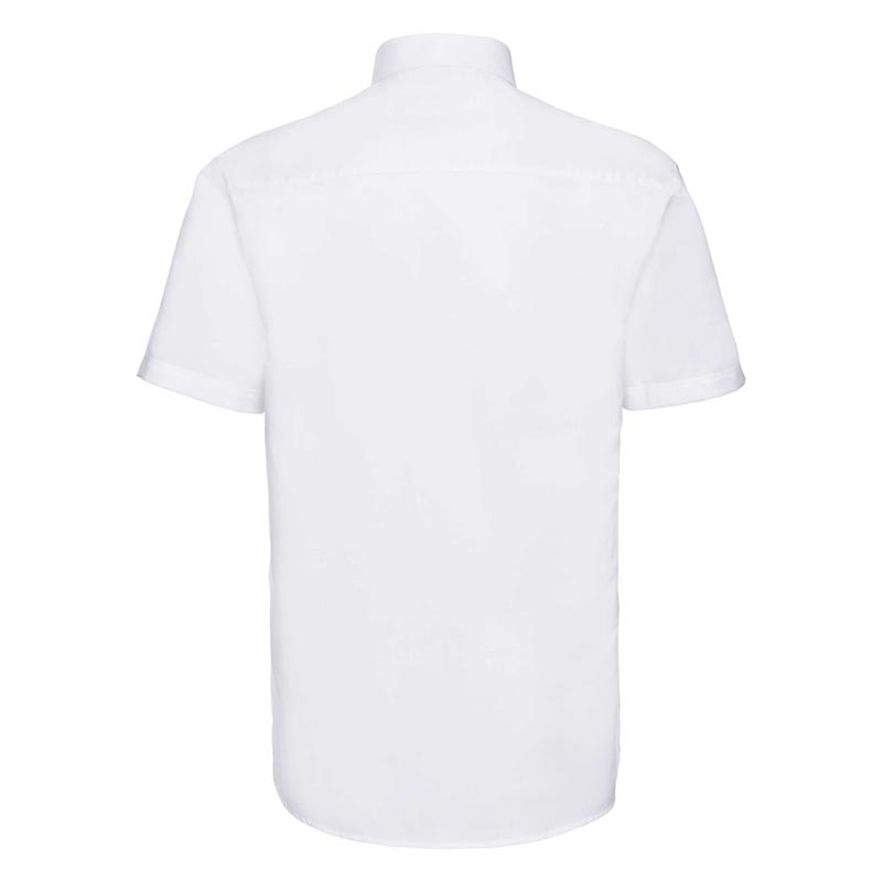 135g 70/30CP Mens Easy-Care Oxford Shirt Short Sleeve - JSHA933-white-back