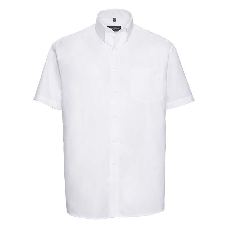 135g 70/30CP Mens Easy-Care Oxford Shirt Short Sleeve - JSHA933-white