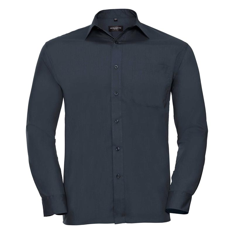110g 65/35 PC Easy Care Poplin Shirt Long-Sleeve - JSHA934-french-navy