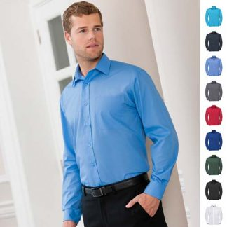 110g 65/35PC Easy Care Poplin Shirt Long-Sleeve-JSHA934