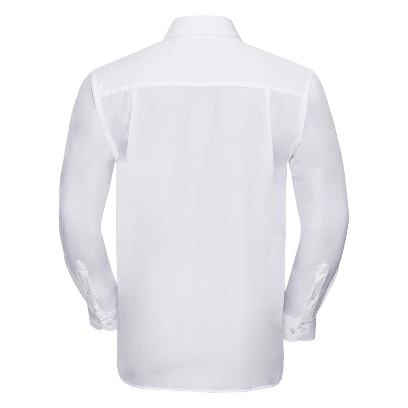 110g 65/35 PC Easy Care Poplin Shirt Long-Sleeve - JSHA934-white-back