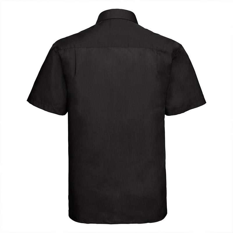110g 65/35PC Mens Easy Care Poplin Shirt Short-Sleeve - JSHA935-black-back